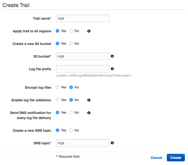 Pull data, logs and audit events from AWS CloudTrail